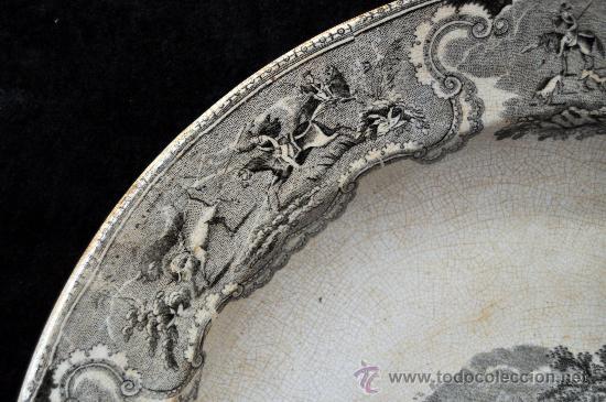 Antigüedades: GRAN FUENTE EN CERÁMICA DE CARTAGENA CON VARIOS SELLOS. SIGLO XIX. 36 CM. DIÁMETRO - Foto 11 - 36018179