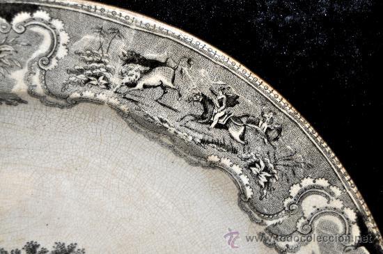 Antigüedades: GRAN FUENTE EN CERÁMICA DE CARTAGENA CON VARIOS SELLOS. SIGLO XIX. 36 CM. DIÁMETRO - Foto 10 - 36018179