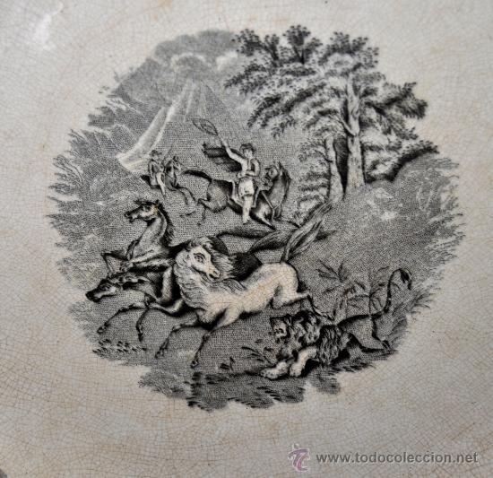 Antigüedades: GRAN FUENTE EN CERÁMICA DE CARTAGENA CON VARIOS SELLOS. SIGLO XIX. 36 CM. DIÁMETRO - Foto 8 - 36018179