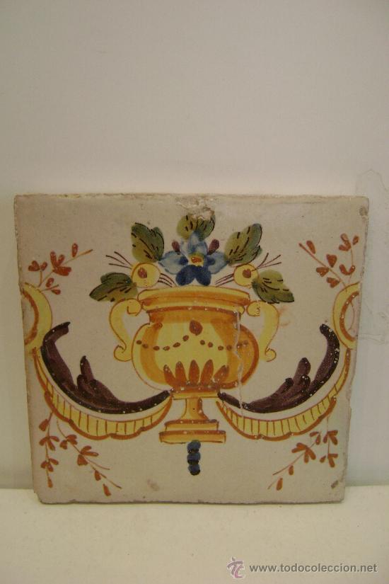 AZULEJO DE ALCORA.SIGL0 XVIII.VALENCIA (Antigüedades - Porcelanas y Cerámicas - Alcora)