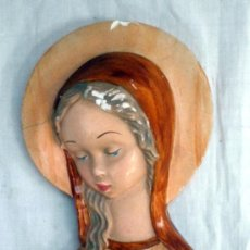 Antigüedades: RELIEVE VIRGEN ESCAYOLA. PARA COLGAR.. Lote 35526490