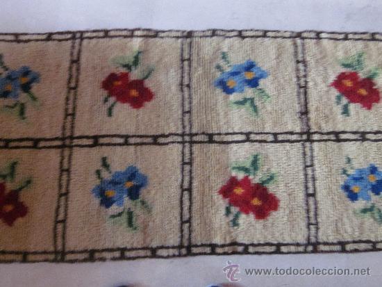 Antigüedades: ALFOMBRA HECHA A MANO DE LANA - Foto 2 - 35527084