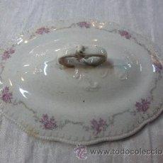 Antigüedades: TAPA DE SOPERA LOZA. Lote 35536506