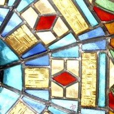 Antigüedades: JOYA! LAMPARA ANTIGUA CRISTAL EMPLOMADO TIFFANYS MODERNISTA ART DECO CIRCA 1910. Lote 38831635