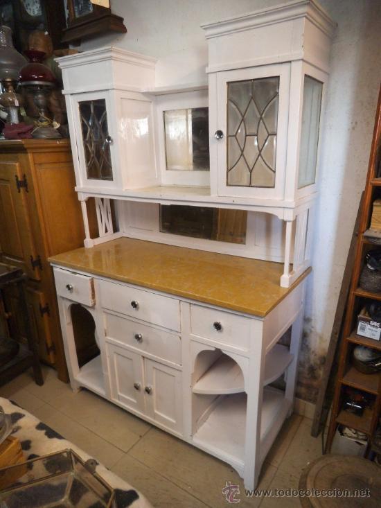 mueble de cocina en blanco antiguo - Comprar Aparadores Antiguos en ...