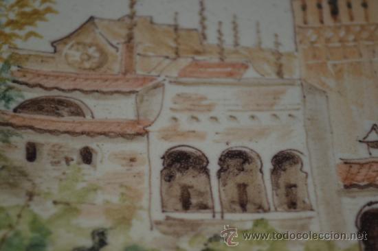 Antigüedades: PRECIOSO PLATO PINTADO A MANO EN CERAMICA DE TRIANA,(SEVILLA),S.XIX - Foto 10 - 35559531