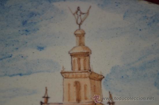 Antigüedades: PRECIOSO PLATO PINTADO A MANO EN CERAMICA DE TRIANA,(SEVILLA),S.XIX - Foto 11 - 35559531