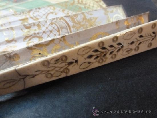 Antigüedades: abanico de hueso y oro isabelino - Foto 23 - 35546766