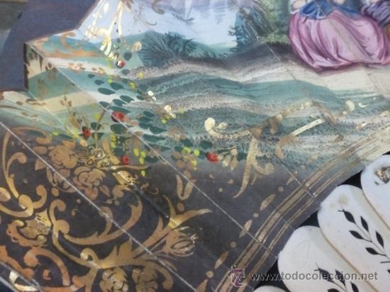Antigüedades: abanico de hueso y oro isabelino - Foto 14 - 35546766