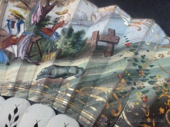Antigüedades: abanico de hueso y oro isabelino - Foto 11 - 35546766