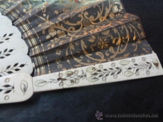 Antigüedades: abanico de hueso y oro isabelino - Foto 10 - 35546766