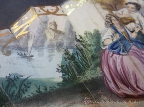 Antigüedades: abanico de hueso y oro isabelino - Foto 3 - 35546766