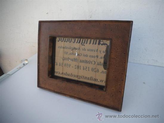 PORTAFOTO DE PASTA (Antigüedades - Hogar y Decoración - Portafotos Antiguos)