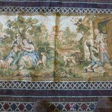 Antigüedades: TAPIZ A MAQUINA TELA. Lote 35610996