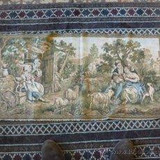 Antigüedades: TAPIZ A MAQUINA TELA. Lote 35611223