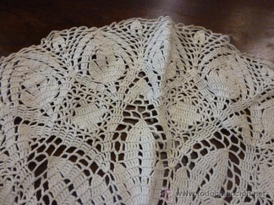 Antigüedades: tapete mantel tela - Foto 5 - 35611541