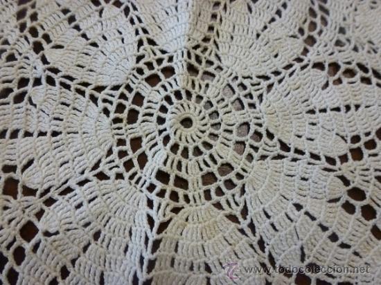 Antigüedades: tapete mantel tela - Foto 4 - 35611541