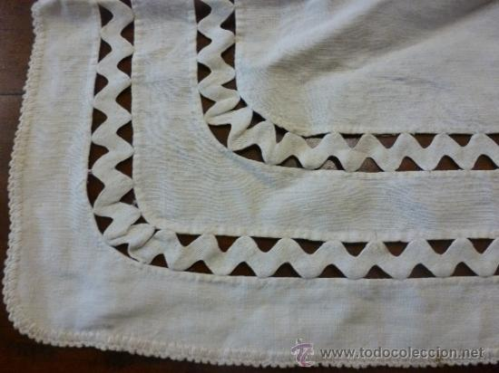 Antigüedades: tapete mantel tela - Foto 5 - 35611429
