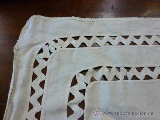 Antigüedades: tapete mantel tela - Foto 4 - 35611429