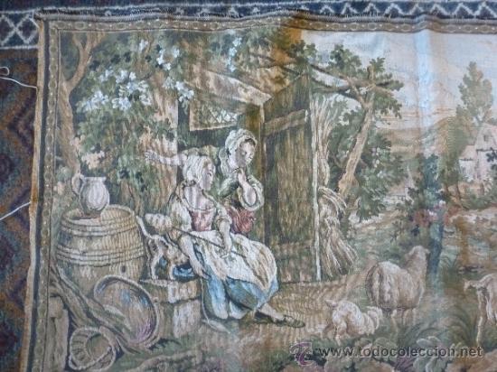 Antigüedades: tapiz a maquina tela - Foto 2 - 35611223