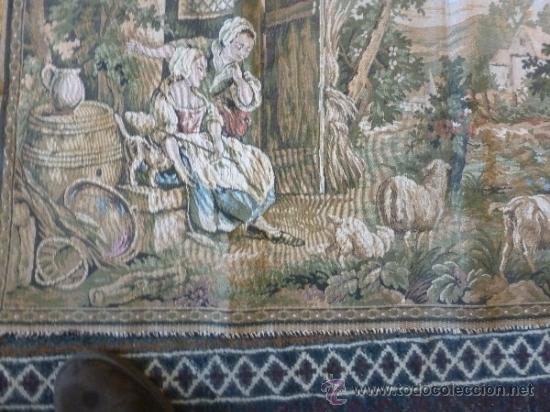 Antigüedades: tapiz a maquina tela - Foto 3 - 35611223