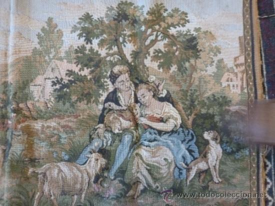 Antigüedades: tapiz a maquina tela - Foto 7 - 35611223