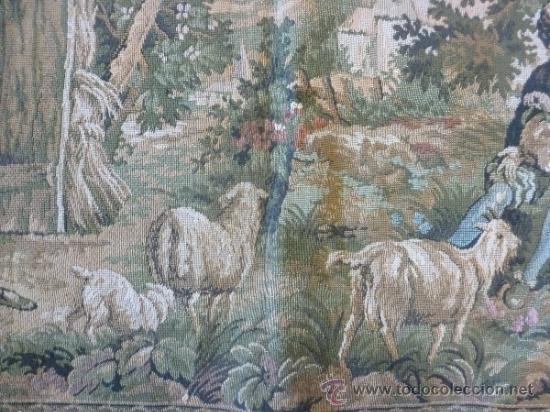 Antigüedades: tapiz a maquina tela - Foto 6 - 35611223