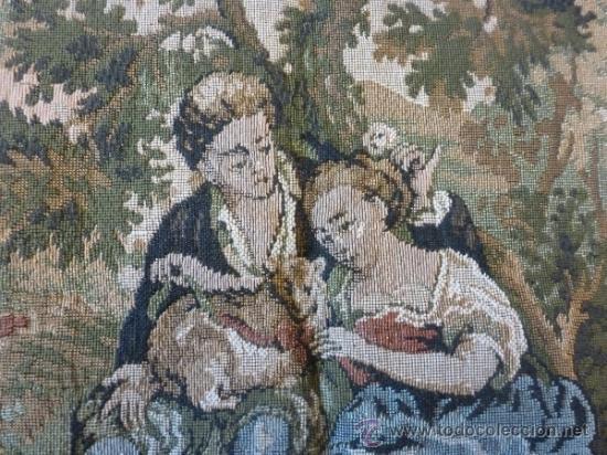Antigüedades: tapiz a maquina tela - Foto 5 - 35611223