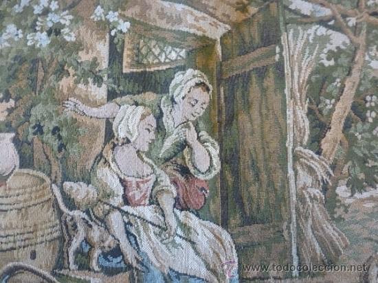 Antigüedades: tapiz a maquina tela - Foto 4 - 35611223