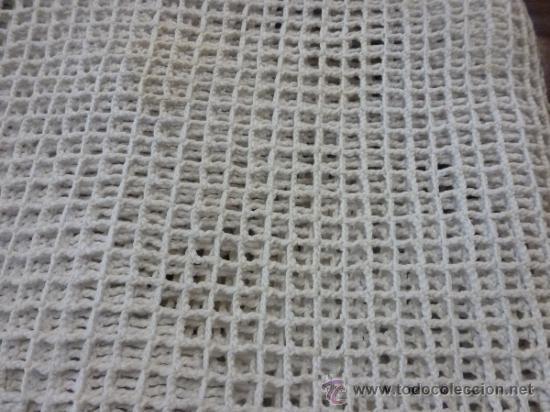 Antigüedades: colcha cubrecama tela - Foto 7 - 35611164