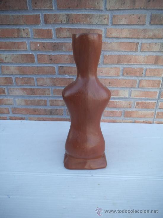 Antigüedades: portasvela en terracota forma de silueta - Foto 3 - 35594236