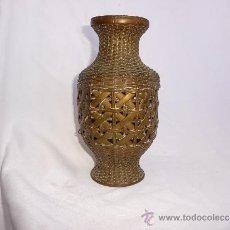 Antigüedades: JARRON DE COBRE,TRENZADO. Lote 35604125