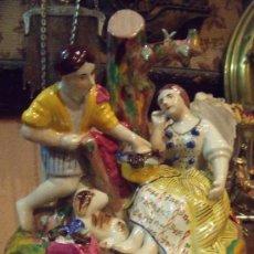 Antigüedades: EXCELENTE FIGURA INGLESA DEL SIGLO XIX STAFFORDSHIRE. Lote 35605552