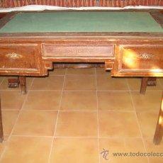Antigüedades: MESA DE DESPACHO ESTILO JORGE IV, CRAQUELADA.. Lote 26490661
