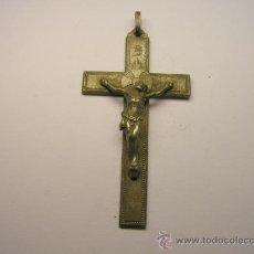 Antigüedades: CRUCIFIJO DE ALPACA. . Lote 35618002