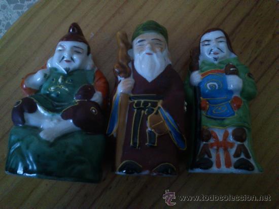 Antigüedades: 6 figuras chinas de ceramica - Foto 2 - 35621023