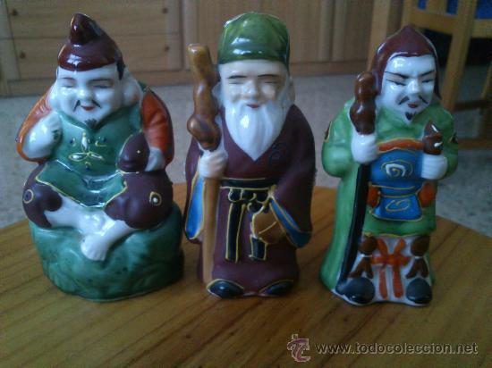 Antigüedades: 6 figuras chinas de ceramica - Foto 3 - 35621023