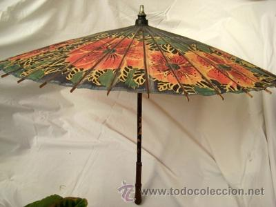 Antigua Sombrilla Parasol China En Papel 90 Comprar Moda - Sombrilla-china
