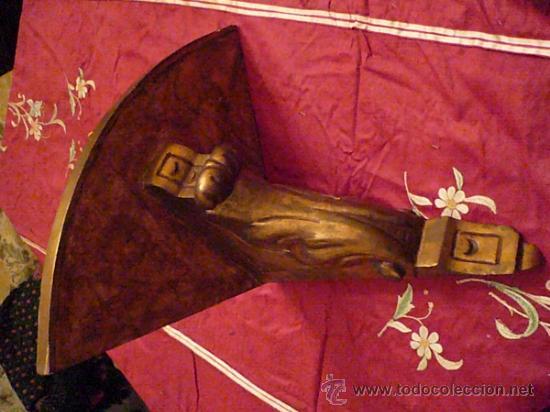 Antigüedades: Mensula dorada - Foto 2 - 35610640