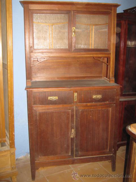 Preciosa alacena modernista para restaurar de d comprar aparadores antiguos en todocoleccion - Venta de muebles antiguos para restaurar ...