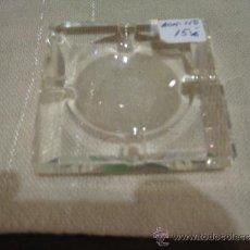 Antigüedades: CENICERO DE CRISTAL TALLADO SAGITARIO- MEDIDA 8 X 8 CM.. Lote 35642381
