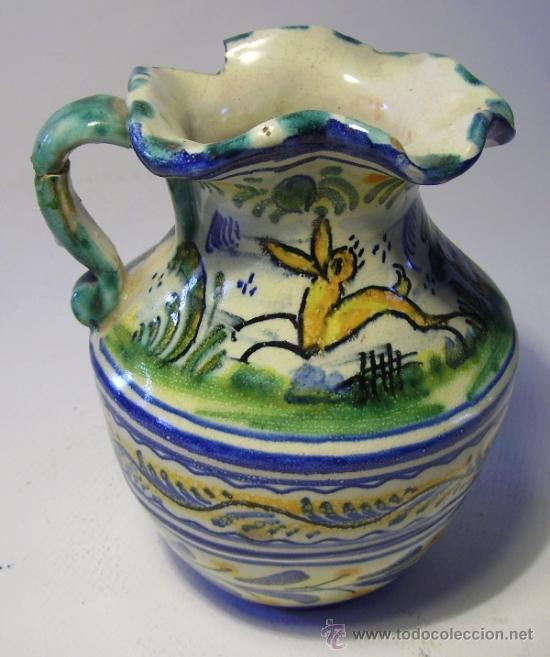 Antigüedades: BONITA JARRA CERAMICA DE TRIANA - Foto 9 - 35639329