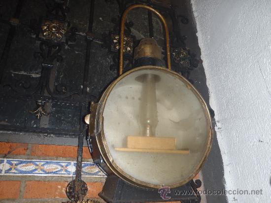 Antigüedades: FAROL DE TREN DELANTERO MAQUINA DE VAPOR 75 CM DE ALTURA RENFE - Foto 3 - 40727565