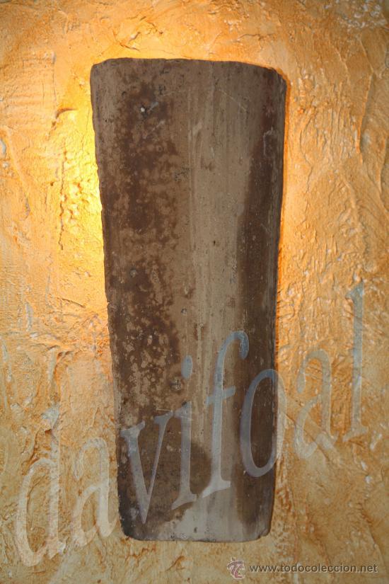 Aplique teja antigua flotante rustico luz inter comprar - Apliques de luz rusticos ...
