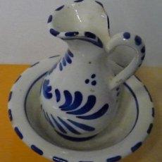 Antigüedades: JARRA Y PALANGANA DE BARRO O CERAMICA - AÑOS 50/60. Lote 35650020