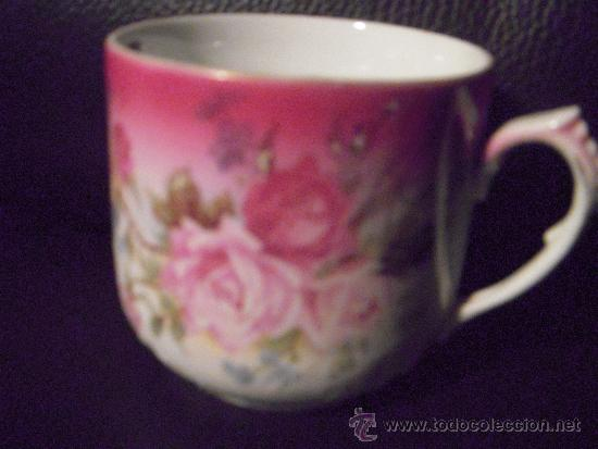 Antigüedades: importante pieza preciosa taza para el bigote con plato - Foto 3 - 35662134
