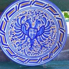 Antigüedades: VIEJO PLATO DE MANISES PINTADO A MANO. Lote 35673604
