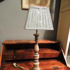 Antigüedades: LAMPARA O PANTALLA CANDELABRO ANTIGUO ESTUCADO. Lote 35697952