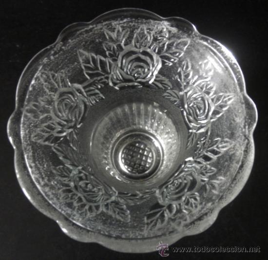 Antigüedades: FLORERO JARRON VIOLETERO DE CRISTAL - Foto 5 - 35672360