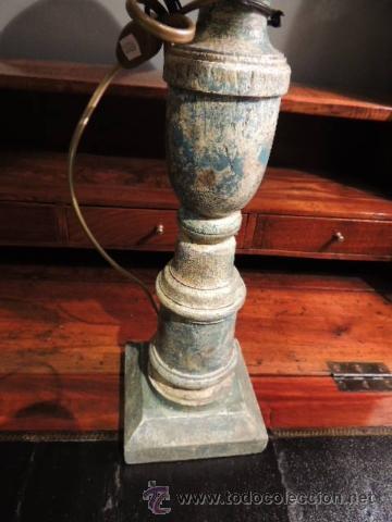 Antigüedades: PRECIOSA LAMPARA TIPO CANDELERO ANTIGUO ESTUCADO - Foto 2 - 35697967